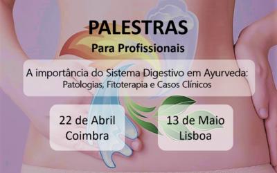 Palestras para Profissionais em Coimbra (22 de Abril) e em Lisboa (13 de Maio)