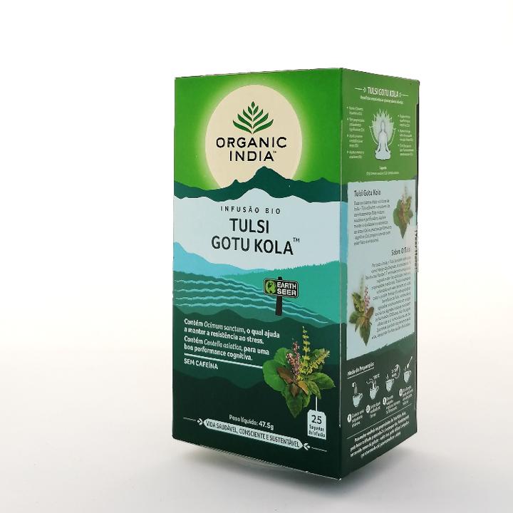 Infusão Bio Tulsi Gotu Kola Organic India