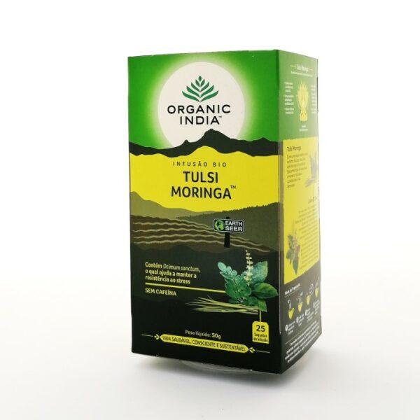 Infusão Bio Tulsi Moringa Organic India