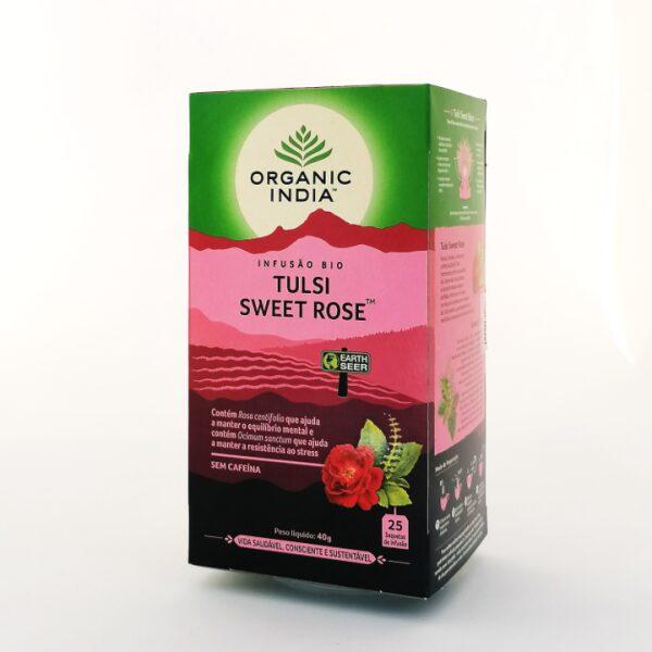 Infusão Bio Tulsi Sweet Rose Organic India