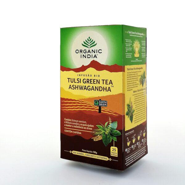 Infusão Bio Tulsi Green Tea Ashwagandha