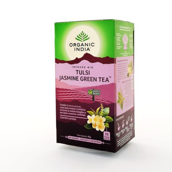 Infusão Bio Tulsi Jasmine Green Organic India