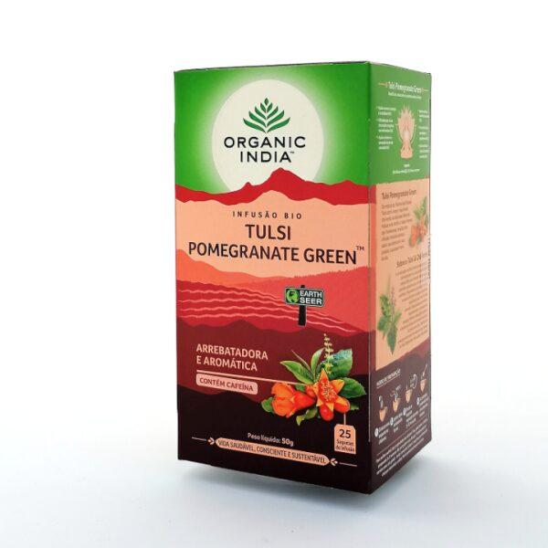 Infusão Bio Tulsi Pomegranate Green
