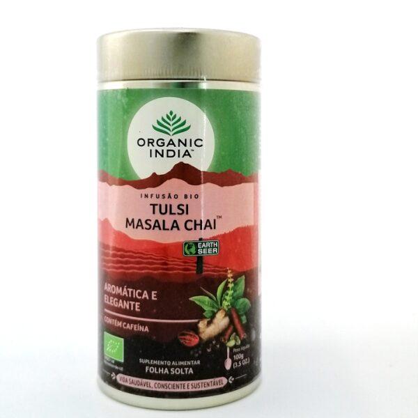 Tulsi Masala Chai Bio Organic India folha solta