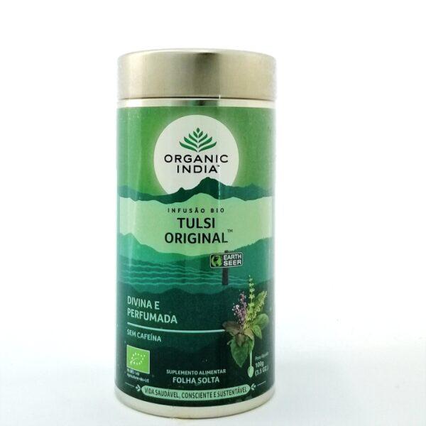 Tulsi Original Bio Organic India 100 gr folha solta