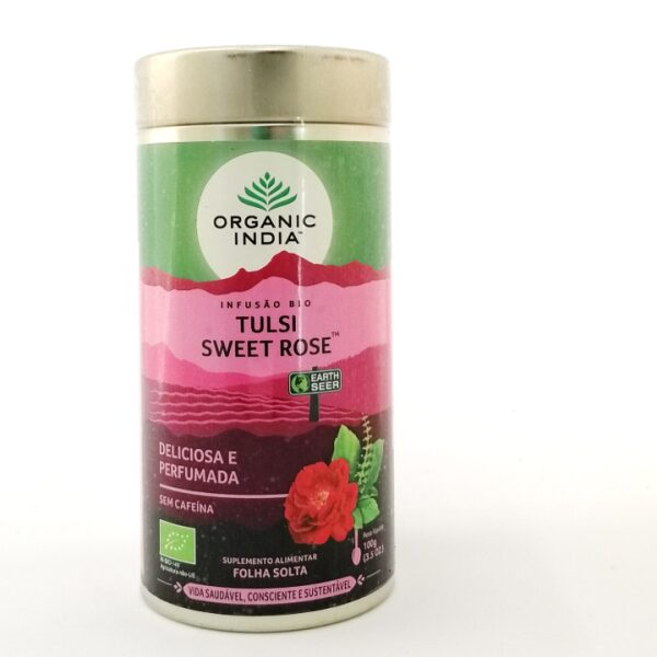 Tulsi Sweet Rose - Infusão Bio folha solta Organic India