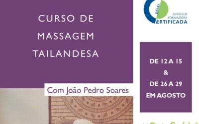 1ª Edição Curso de Massagem Tailandesa | Agosto 2021